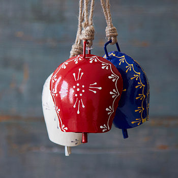 Hand Painted Coloured Iron Bells