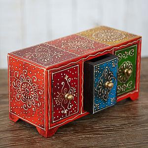 Almirah Antique Style Three Drawer Set