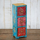 Tall Almirah Antique Style Three Drawer Set