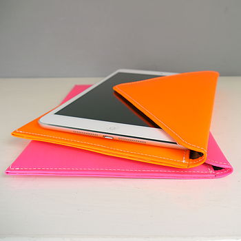 Fluorescent Leather Cover For iPad Mini