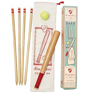 Traditional Wooden Rounders Set - garden sale