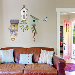 English Birdhouse Wall Sticker Set