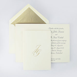 Sudeley Engraved Wedding Invitation - invitations