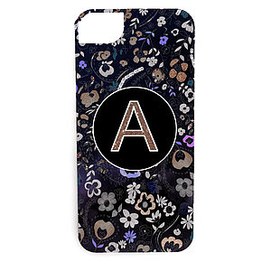 Personalised Gold Floral Case For The iPhone - leisure