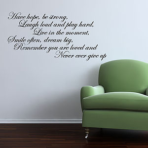 Have Hope Wall Sticker - living room