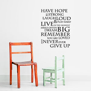 Have Hope Portrait Wall Stickers - decorative accessories