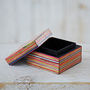 Dhari Fair Trade Handmade Striped Trinket Box