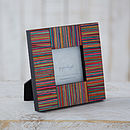 Dhari Fair Trade Handmade Stripy Photo Frame