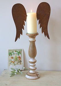 Large Rust Candle Wings - tableware