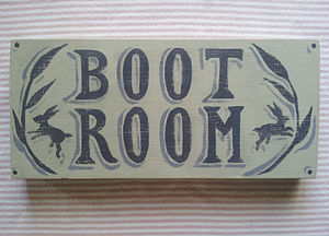 Boot Room Wooden Sign - art & decorations