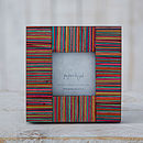 Dhari Fair Trade Handmade Stripy Photo Frame