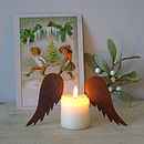 Pair Of Rust Candle Wings