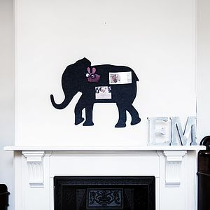 Elephant Pin Board In Charcoal By Al And Em