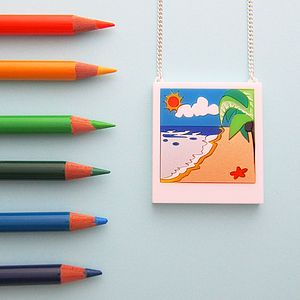 Beach Polaroid Necklace