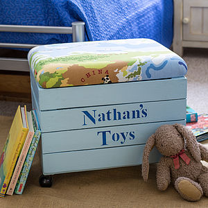 Personalised Boy's Storage Toy Box Seat - children's furniture