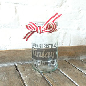 Personalised Christmas Retro Storage Jar - stocking fillers under £15