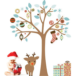 Christmas Tree Wall Stickers - office & study