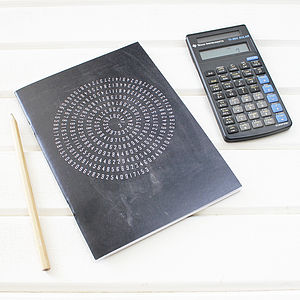 Maths Design Pi Notebook - writing