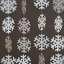 'Let It Snow' Paper Snowflake Garland