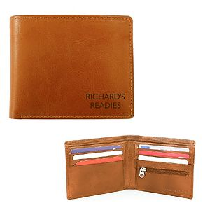Mens Personalised Leather Wallet - wallets & money clips