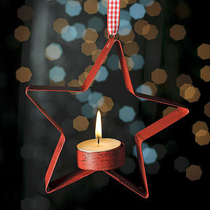 Metal Hanging Christmas Tea Light Holder - view all sale items