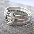 Personalised Horse Shoe Stacking Ring