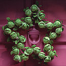 Star Brussel Sprout Wreath