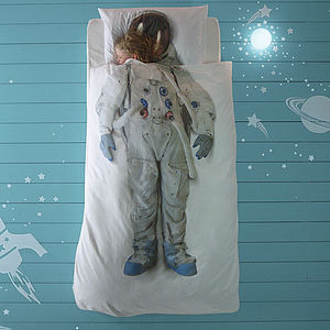 Astronaut Space Boy / Girl Single Bed Set - bedding & accessories