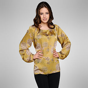 Dandelion Silk Top - tops & t-shirts