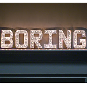 Marquee Letter Light - decorative letters