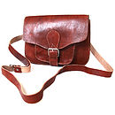 Leather Square Saddle Bag
