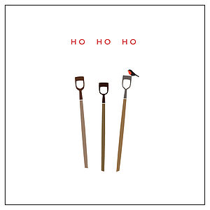 'Ho Ho Ho' Xmas Card - christmas cards