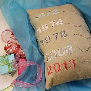Christmas Festive Timeline Memory Cushion - cushions