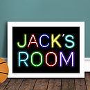 Personalised Kids Neon Sign Print