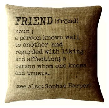Personalised 'Friend' Definition Cushion