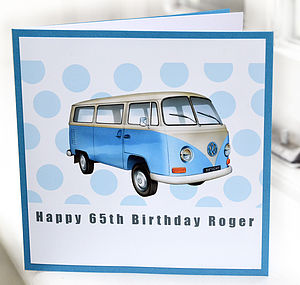 Campervan Birthday Card - birthday cards