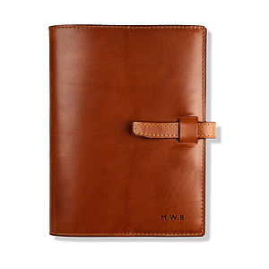 Personalised Leather Bound Journal - travel journals & diaries