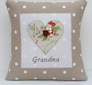 Personalised Taupe Spot Cushion - cushions