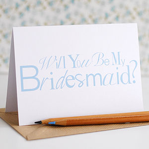 Will You Be My Bridesmaid? Card - wedding cards & wrap