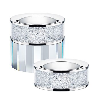 Tea Light Holder Filled With Swarovski Crystals