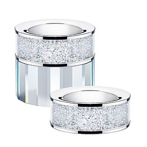 Tea Light Holder Filled With Swarovski Crystals - room decorations
