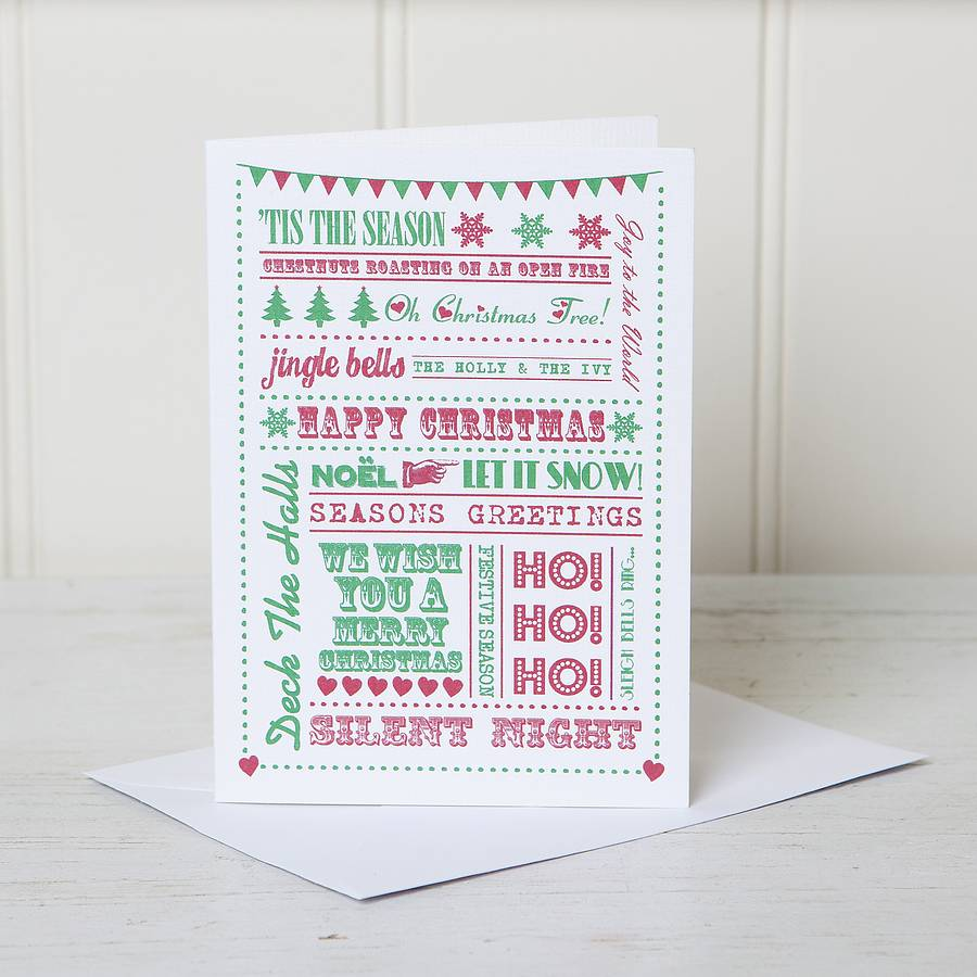 personalised festive typography word christmas card by lovely – Christmas Card Word