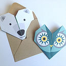 Origami Notepaper Set : Owl