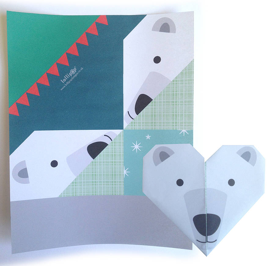 origami notepaper set : winter by lollipop designs ...