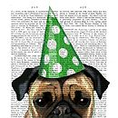 Party Pug Dictionary Print