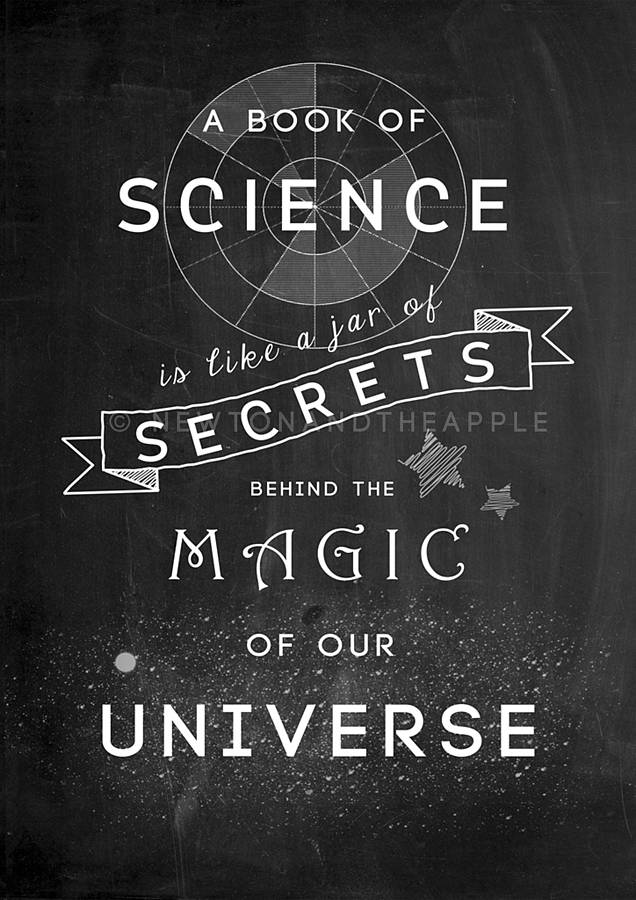 science magic quote notebook newton apple notonthehighstreet schoo cobb middle east