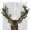 The Green King, Deer Dictionary Print