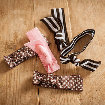 Ribbon Print Hair Ties