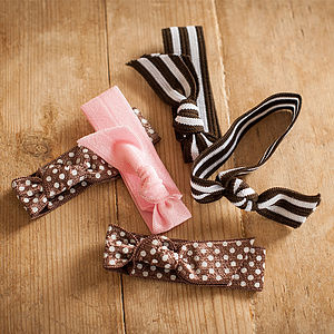 Ribbon Print Hair Ties - hair accessories
