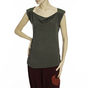 Low Cowl Neck Top - women's fashion